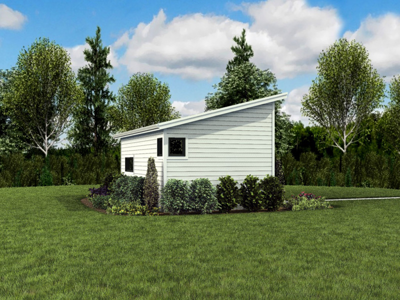 Building Plans Side View Photo - Morrow Modern Studio 012D-7508 | House Plans and More