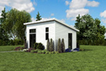 Building Plans Side View Photo 02 - Morrow Modern Studio 012D-7508 | House Plans and More