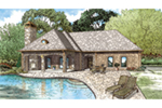 Traditional House Plan Front of Home - Oakes Small European Home 055D-1029 | House Plans and More