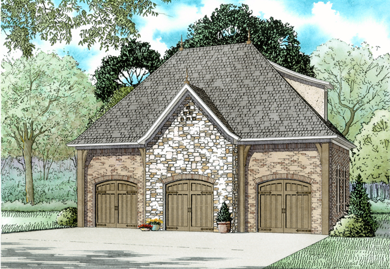 European House Plan Front of Home - 055D-1032 | House Plans and More