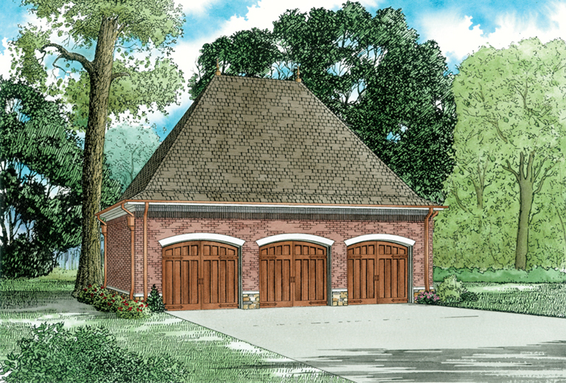 Traditional House Plan Front of Home - 055D-1033 | House Plans and More