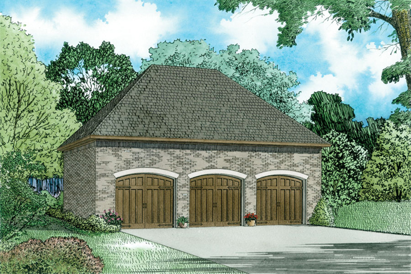 Traditional House Plan Front of Home - 055D-1034 | House Plans and More