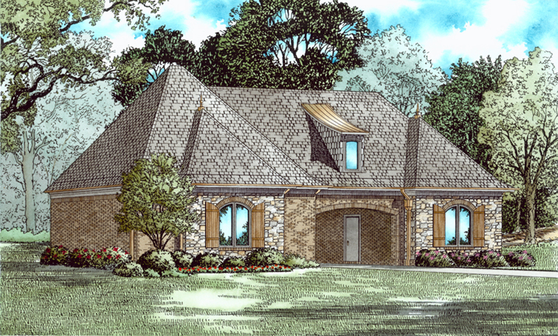 Traditional House Plan Front of Home - 055D-1035 | House Plans and More