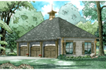 Traditional House Plan Front of Home - 055D-1036 | House Plans and More