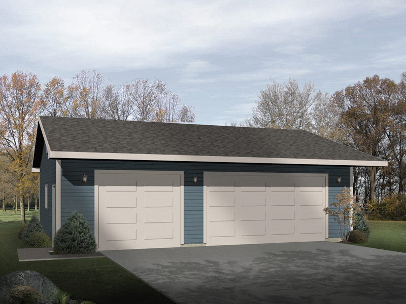 Attractive and efficient three-car garage