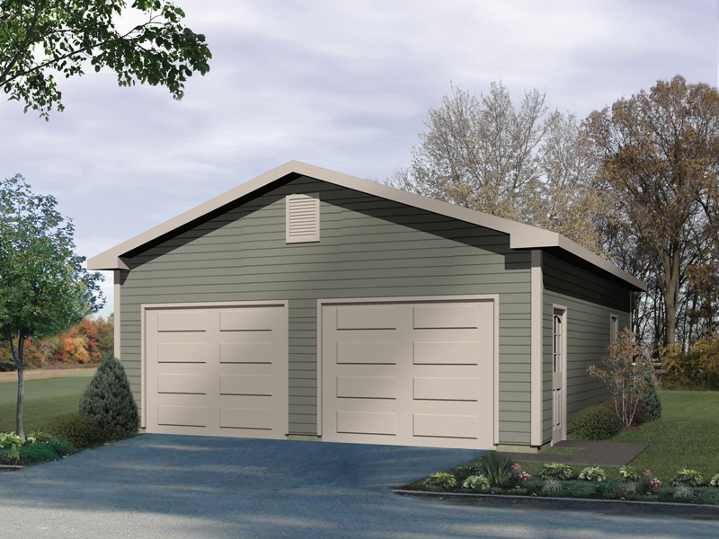 Exceptional two-car garage with side entry door