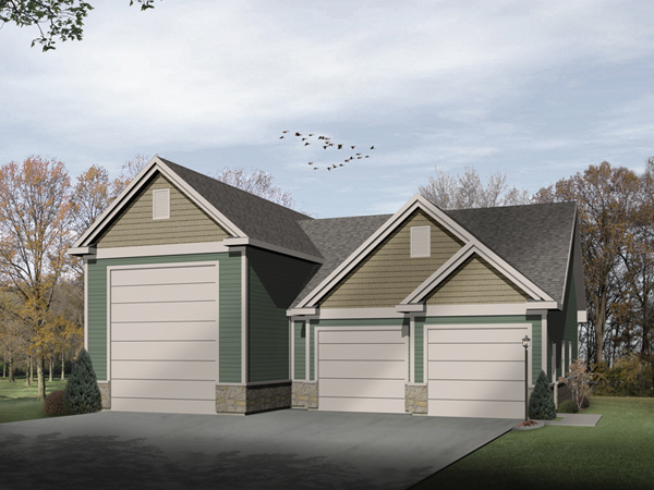 Lyric two car and rv garage plan 059d 6015 house plans for Rv storage plans