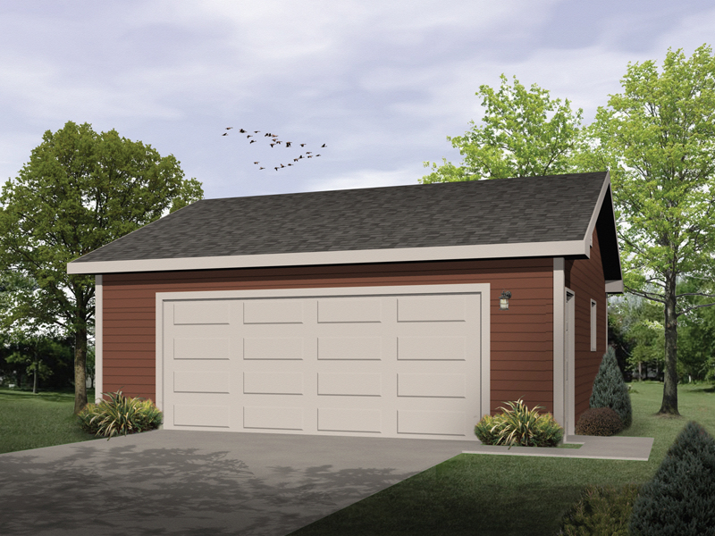 Two-car garage is the perfect style to match any house design