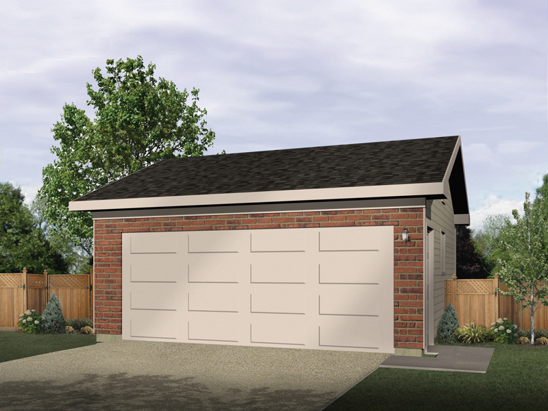 Simple two-car garage has classic style that will last years
