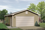 Two-car garage with a low maintenance siding exterior