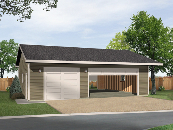 Alice three car garage plan 059d 6040 house plans and more for 3 bay garage cost
