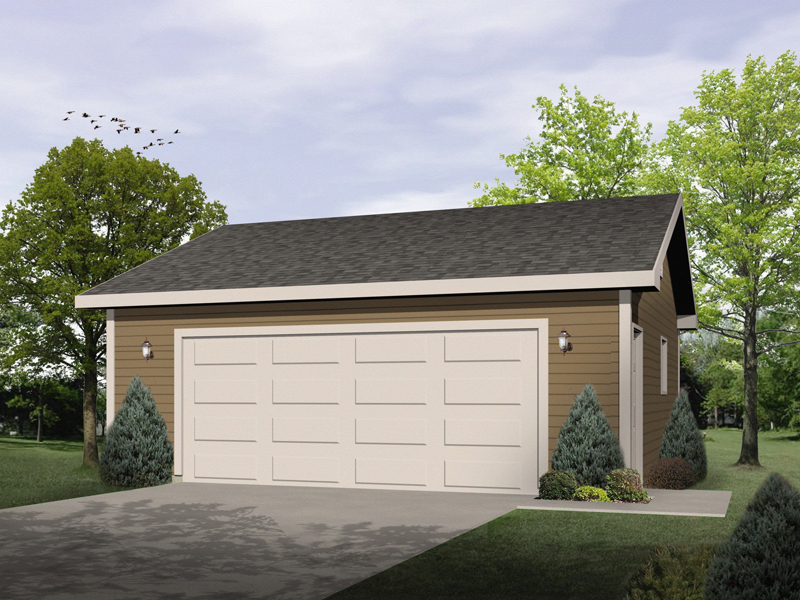 Simple two-car garage design