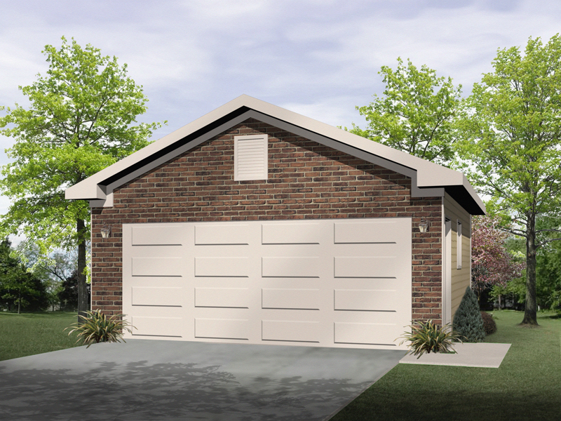 Trudy two car garage plan 059d 6058 house plans and more for Brick garage plans