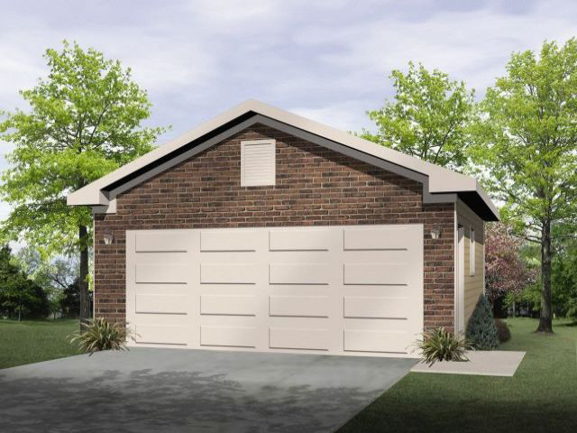 Two-car garage has traditional style to match any home plan
