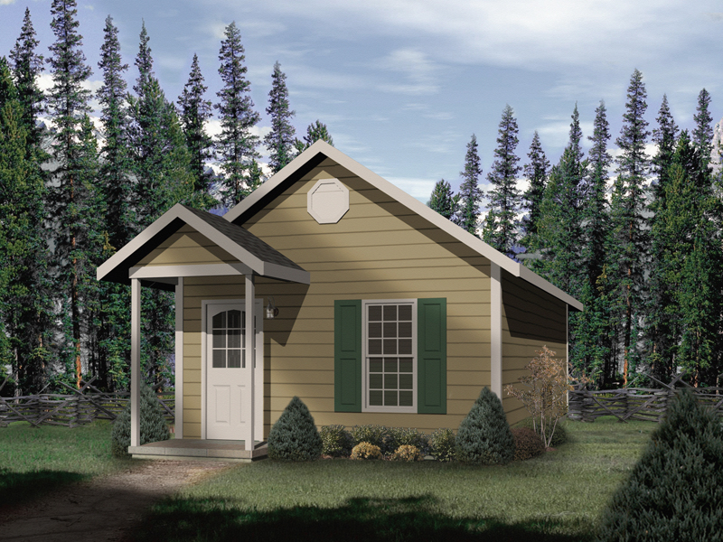 Cabin and Cottage Plan Front of Home 059D-7500 | House Plans and More