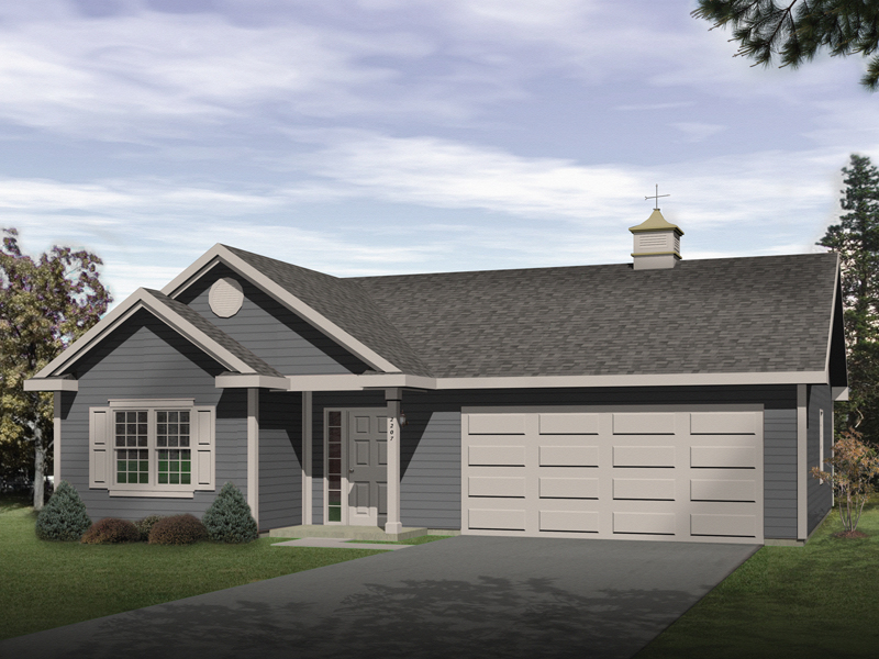 Two-car garage apratment has the look and feel of a cozy ranch style home