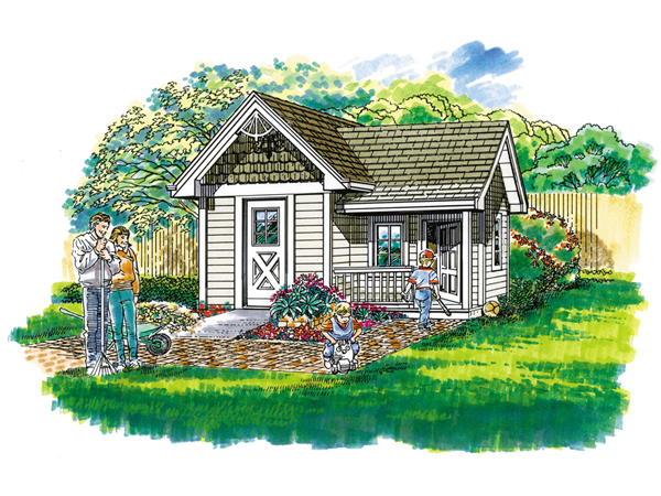 Playhouse Garden Shed Plans : Garden shed with playhouse d garage plans