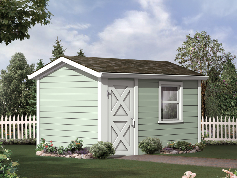 This storage shed has a great style that is perfect for a more traditional style home