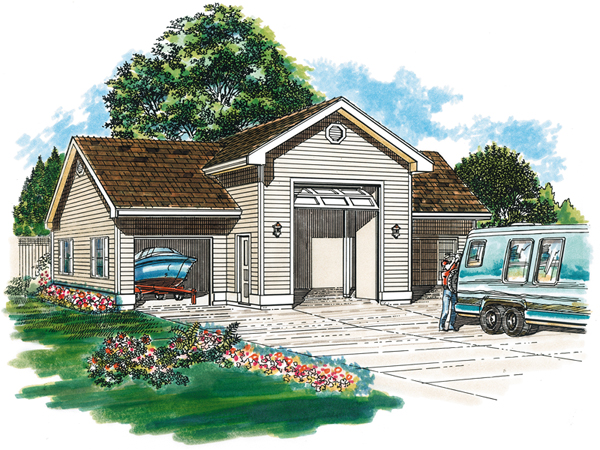 Kiley Garage And RV Storage Plan 063D-6004 | House Plans and More