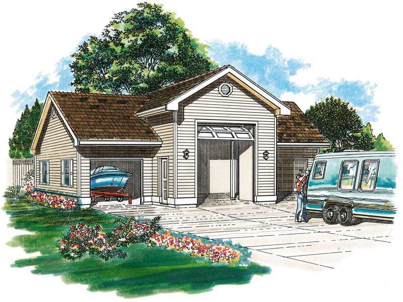 Kiley garage and rv storage plan 063d 6004 house plans for House plans with rv storage