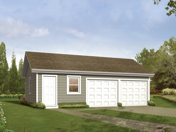 Kamelia two car garage plan 063d 6010 house plans and more for Double car garage plans