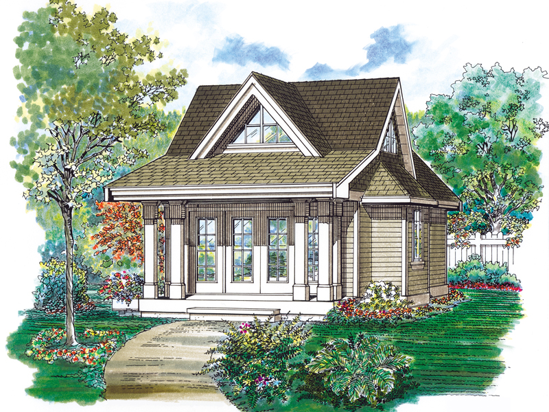Building Plans Front of Home 063D-7501 | House Plans and More