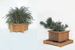 Redwood cedar plenter boxes great for the outdoor patio or porch