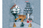 Birdhouse assortment has seven different kids of birdhouses that can be built in all sizes and shapes
