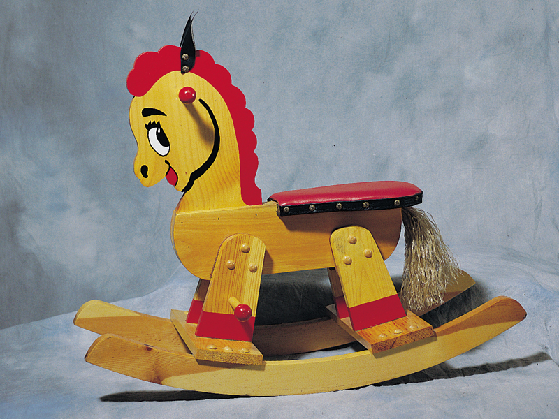 Building Plans Front of Home Adorable Rocking Horse Toy 066D-1500 | House Plans and More