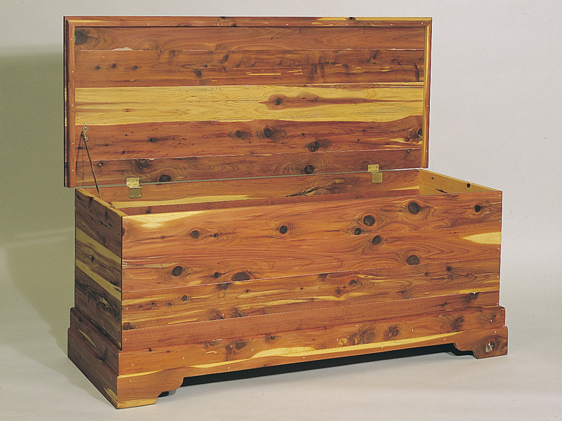 Building Plans Front of Home Cedar Chest