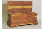 Sturdy cedar chest is a great place to store memoribilia or treasured family items