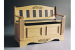 Blanket chest and bench has a timeless and Traditional style that will last in the family for generations
