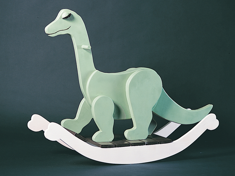 Fun and playful rocking dinorsaur is a great addition to a children's playroom
