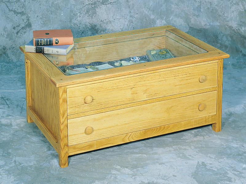This curio table offers a place to view a prized collection without being damaged