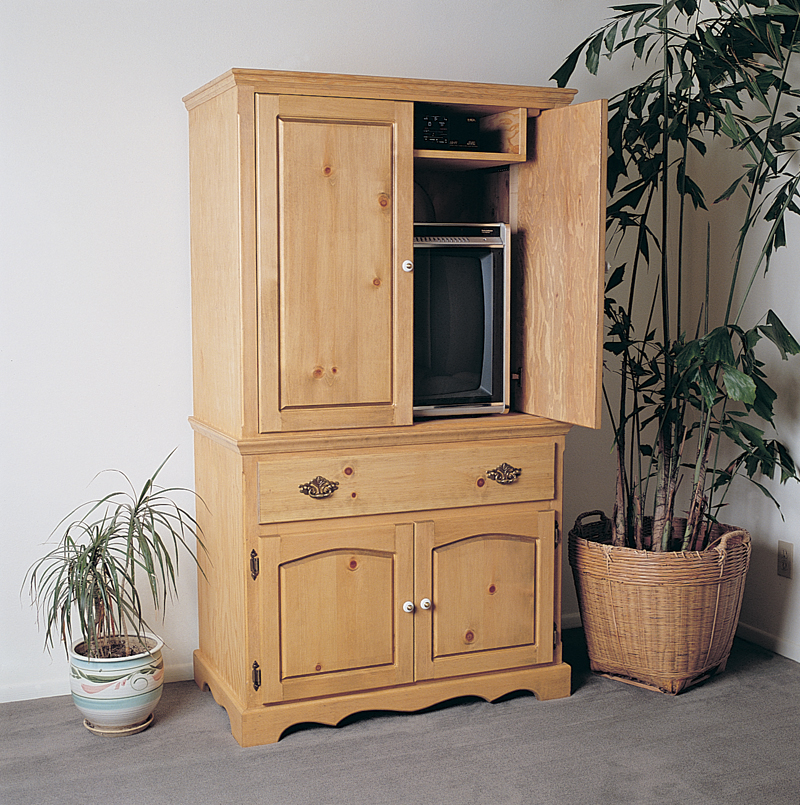 This all wood sturdy entertainment armoire provides a terrific place for the TV and other media equipment
