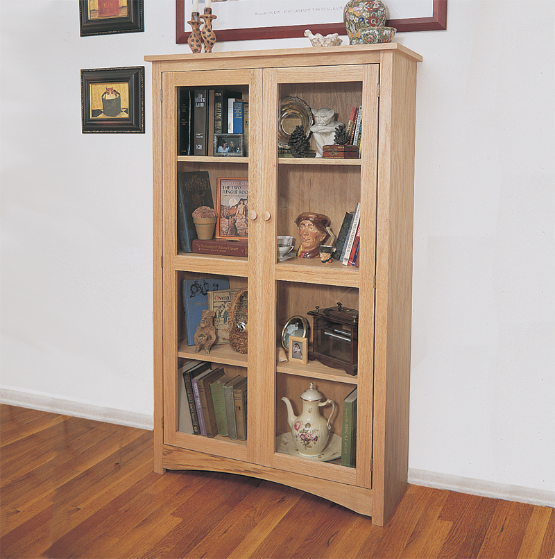 This Craftsman style bookcase provides a handsome alternative to the Traditional bookcase style