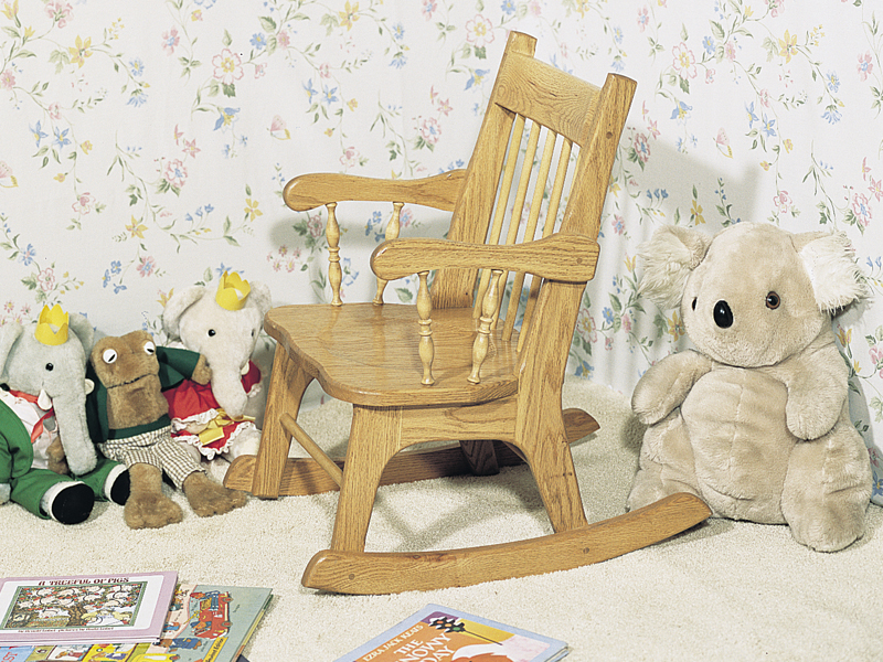 Traditional Plan Front of Home Child's Rocker