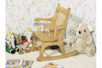 This child's rocker is the perfect size for a small child and can remain in the family for generations