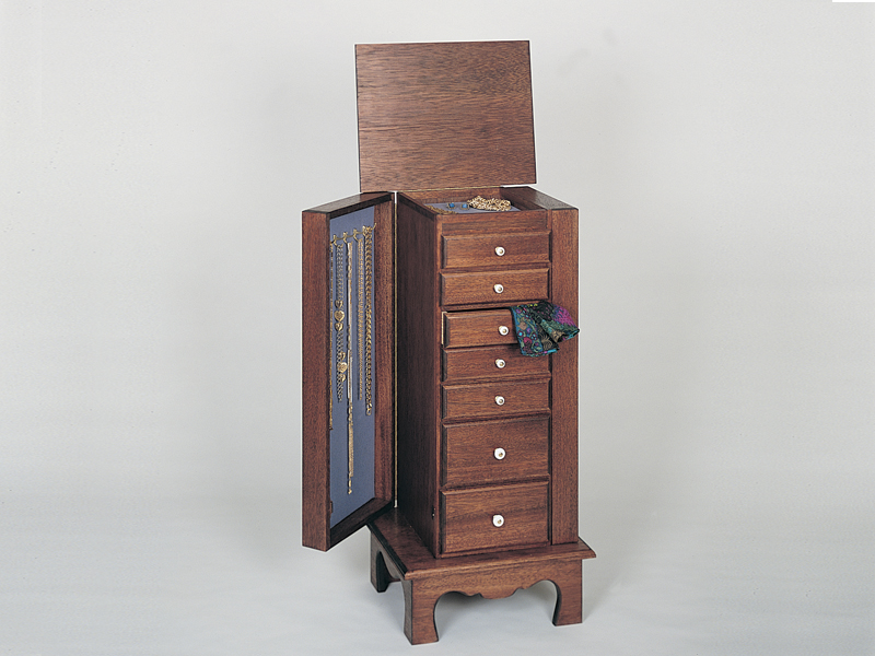 This lovely jewelry and lingerie chest will be treasured by the woman in the house