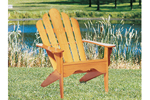 Rustic unpainted wood adirondack chair