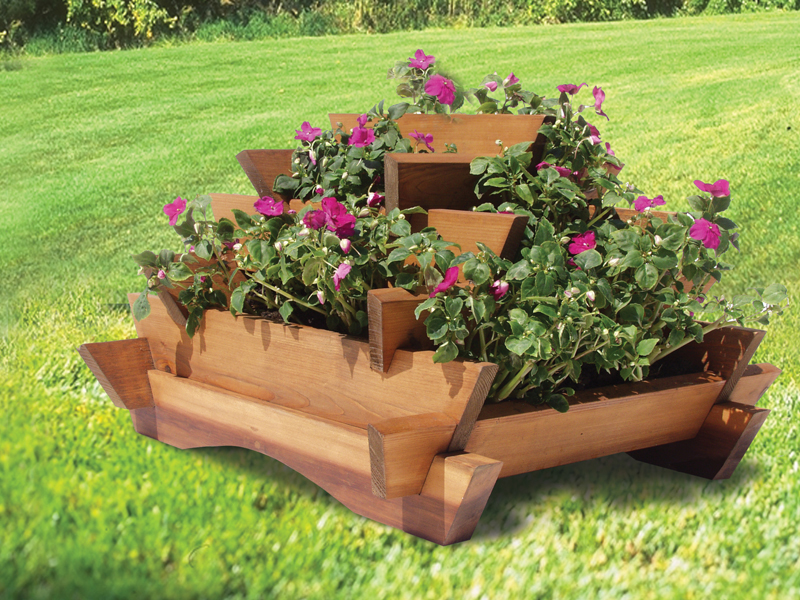Colonial Floor Plan Front of Home Stacked Planter