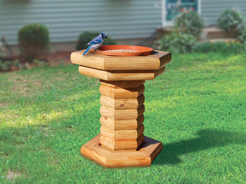 Lanscape timber bird feeder has rustic country charm and is perfect for the bird enthusiast