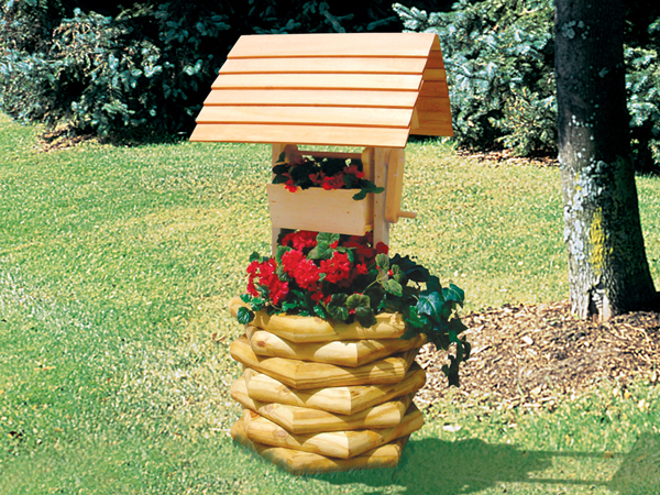 How To Build A Wishing Well From Landscape Timbers