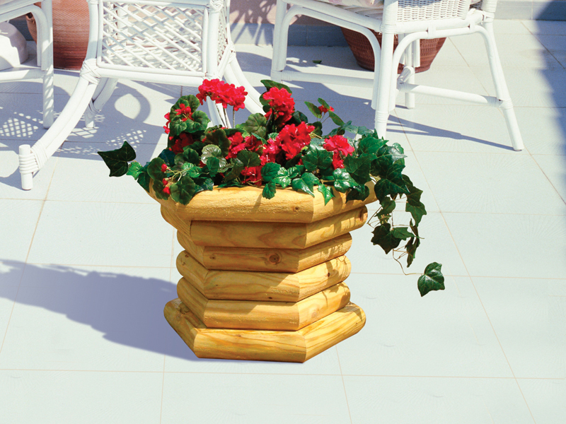 Landscape timber deck planter would be the perfect addition on the deck of a rustic or vacation home plan