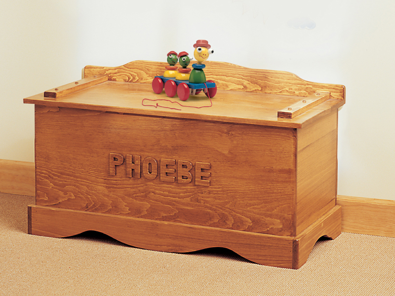 Building Plans Front of Home Personalized Toy Chest