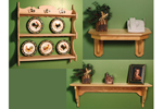 This basic all wood shelf is a designt hat would easily fit into any room décor