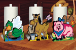 Kitchen Kritters paper towel holders feature three different styles: a duck, horse and pig for country style and fun