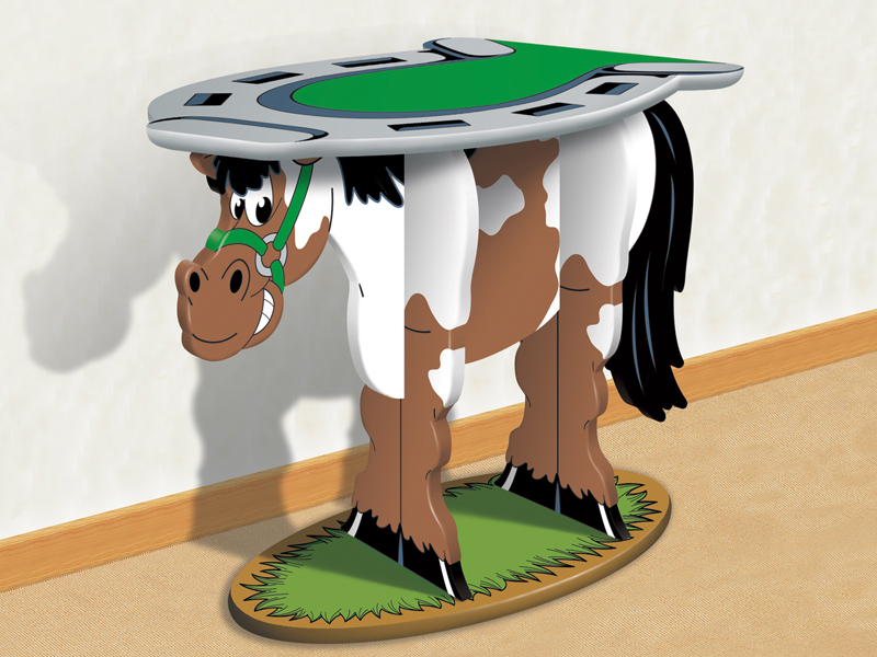 Great for a country style home or children's room, this horse table is a conversation piece