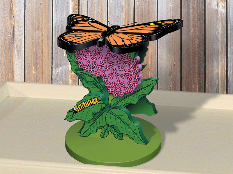 This cheerful butterfly plant stand is the perfect look for a greenhouse, sunroom or covered patio