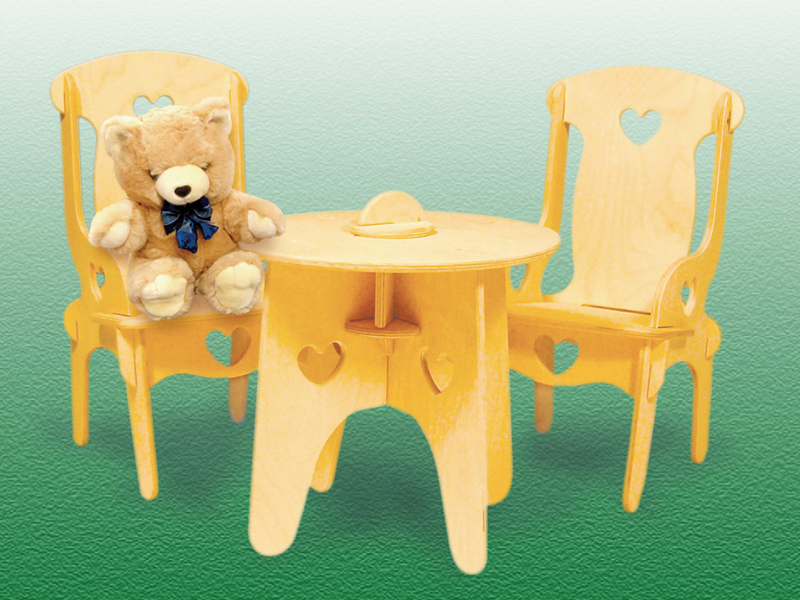 Building Plans Front of Home Doll's Table & Chairs
